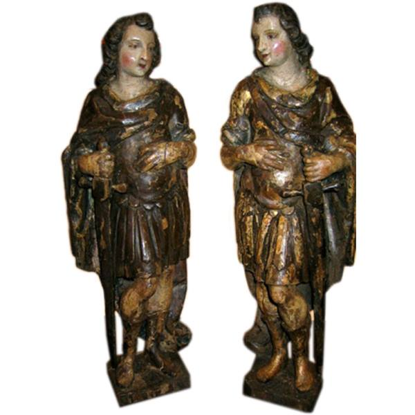A Pair of Italian 18th Century Carvings