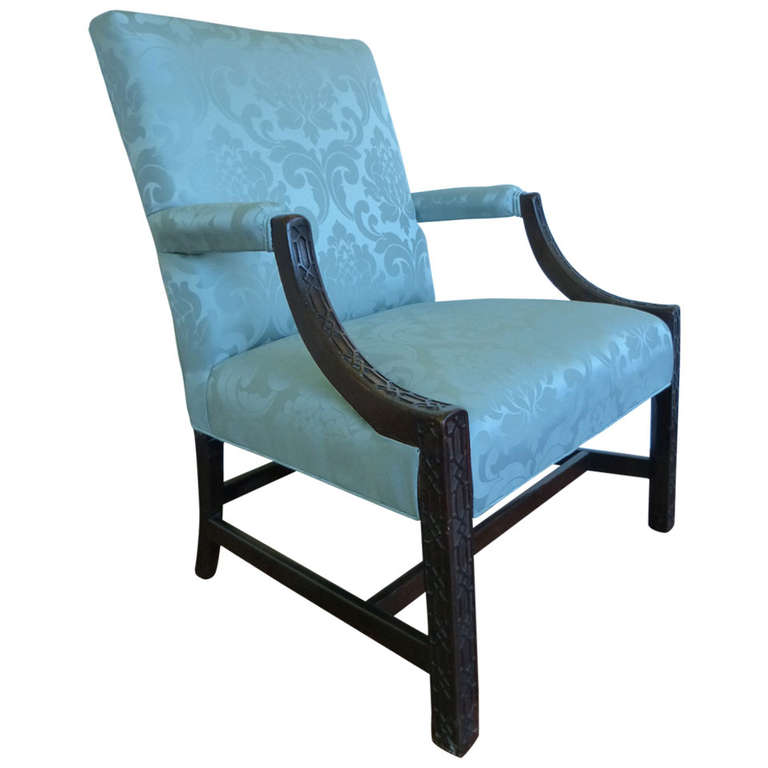 Chinese Chippendale Library Armchair