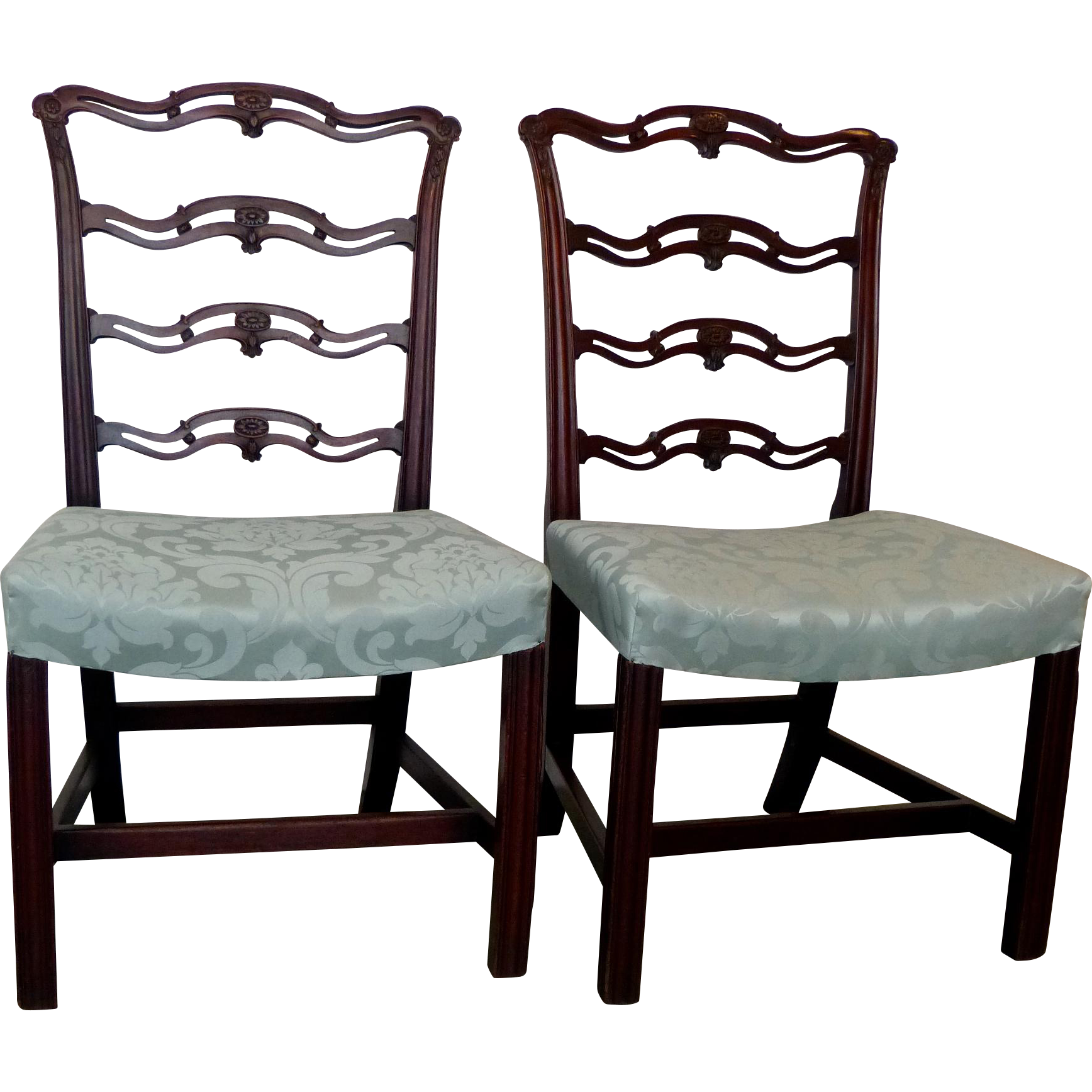 A Fine Pair of George III Period Mahogany Chairs