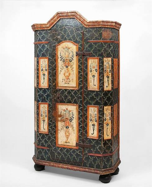 A Fine Northern European Painted Armoire