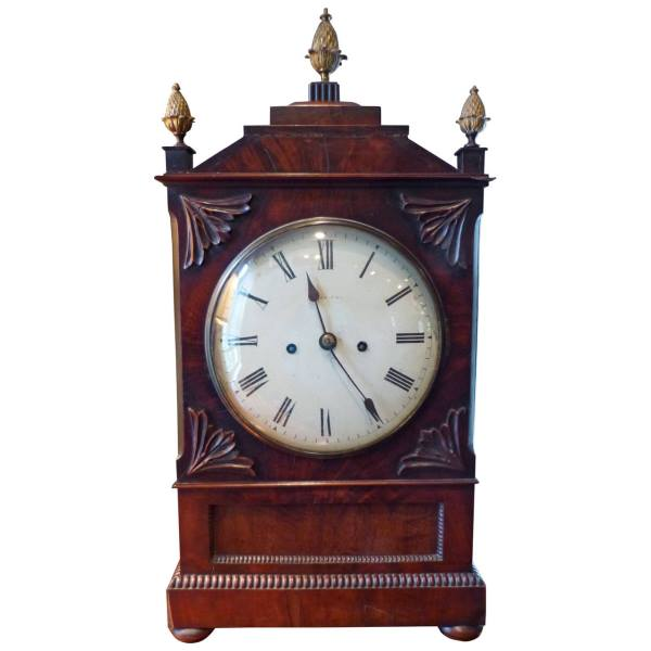 Regency Mahogany Bracket Clock