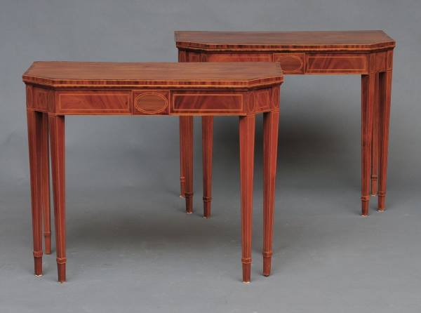 A Fine Pair of Mahogany Card Tables