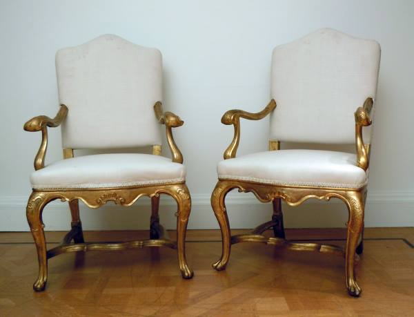 A Fine Pair of Venetian 18th Cent. Armchairs