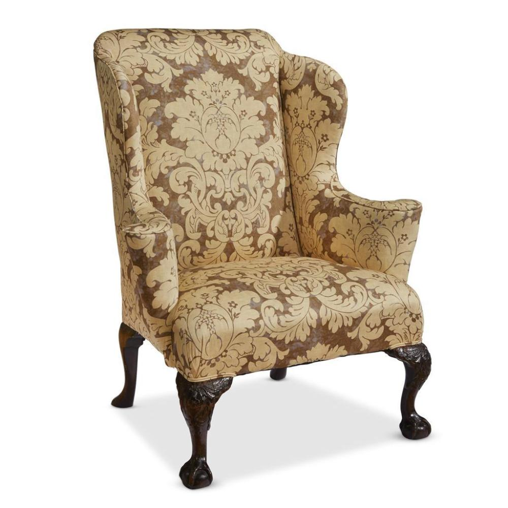 18th Century Mahogany Wing Armchair