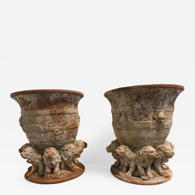 "A Pair of ""Medici"" Terracotta Vases"