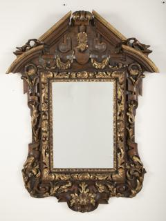 Italian Walnut and Parcel Gilt Mirror