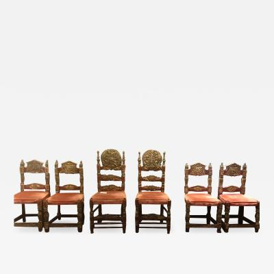 Set of 8 Spanish Colonial Chairs