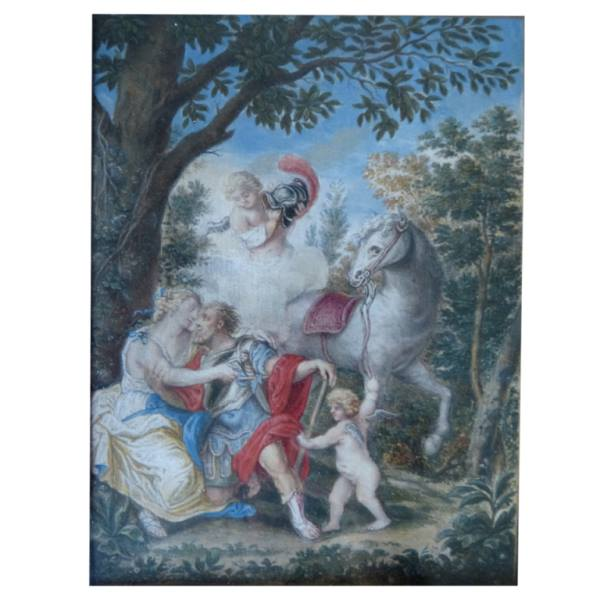 French 17/18th Century Painting On Vellum