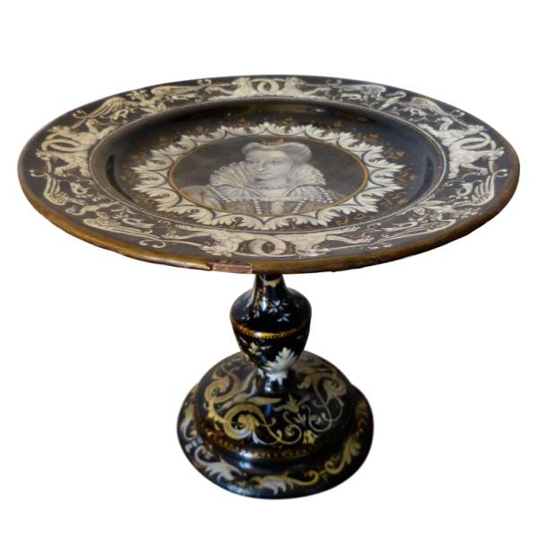 French Limoges Tazza 19th century