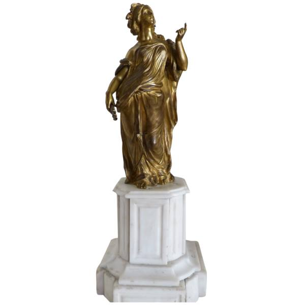 French Allegorical Gilt Bronze Statue of the Sciences