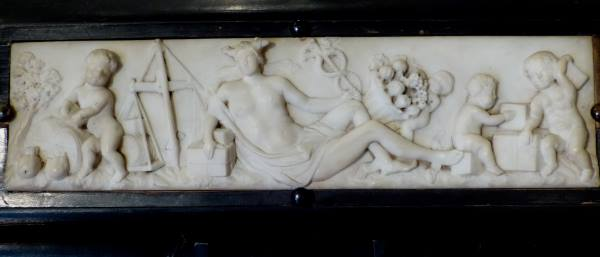 Italian 18th Century Allegorical Carrara Marble Panel